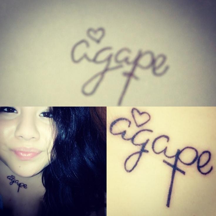 Agape means infinite love in greek