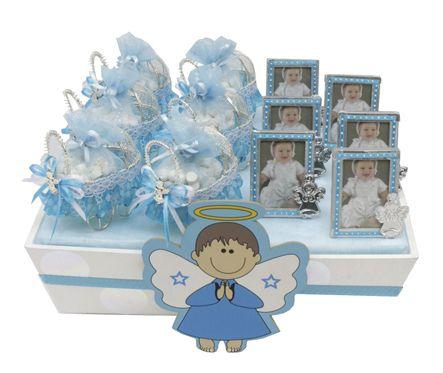 Recuerdos para bautizo de ni o centro de mesa color azul - Plumas para decorar ...