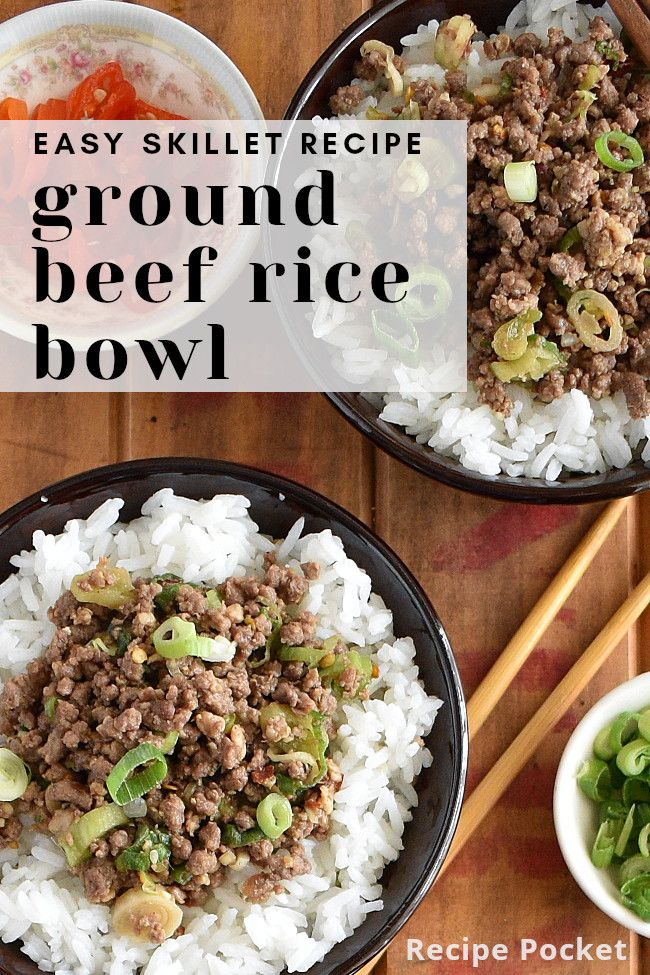 Easy Korean Ground Beef Rice Bowl On The Table In 20 Min Recipe Beef Rice Bowl Recipe Beef And Rice Best Lunch Recipes