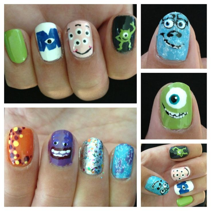 Monsters University Nail Art (Monsters Inc Nails)