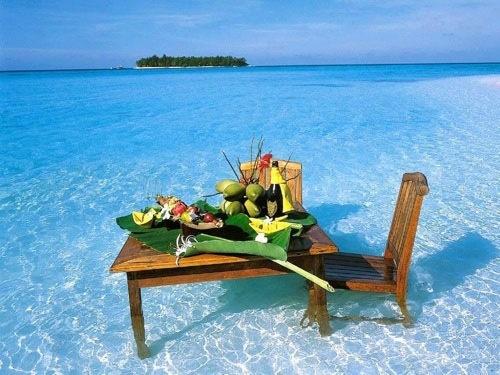 Romantic breakfast after a wonderful evening...