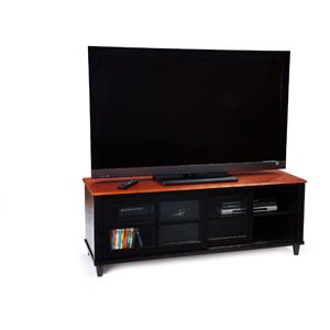 French Country Black and Cherry TV Stand, for TVs up to 60""