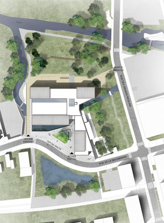 Les Grands Moulins-Sport Complex / Ligne 7 Architecture   ArchDaily