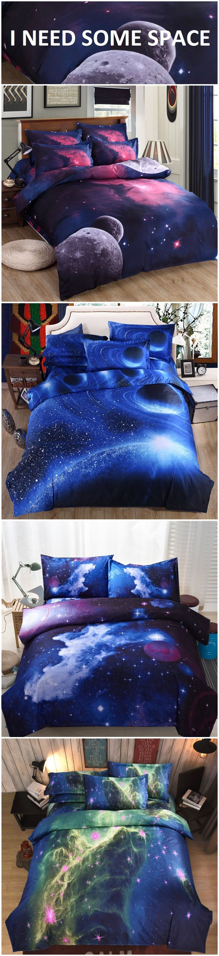 Pcs peter pan bedding set duvet cover fitted sheet pillow case worl - 3d Galaxy Pattern Bedding Sets Universe Outer Space Duvet Cover Fitted Bed Sheet Pillowcase