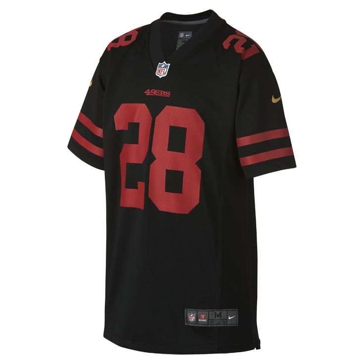 Nike NFL San Francisco 49ers Color Rush Game (Carlos Hyde) Kids' Football Jersey Size Medium (Black)