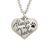 Pet Memorial Necklace - Always In My Heart! What a great gift for someone mourning a loss