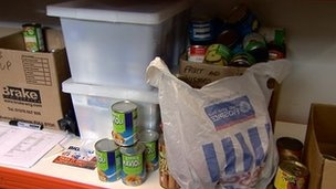 A record number of people received emergency food from UK food banks in the last six months, a charity says. The Trussell Trust said its food bank network had fed almost 110,000 people since April, compared with a total of 128,697 in the whole of 2011-12.