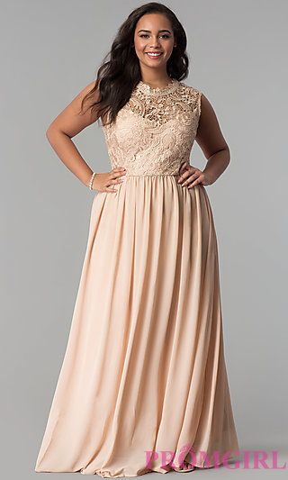 Full Figure Dresses and Plus-Size Prom Gowns -PromGirl - PromGirl
