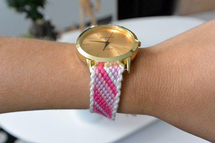 Un bracelet de montre en laine