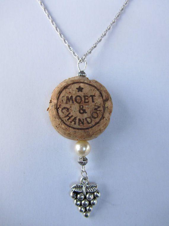 Moet & Chandon Champagne Cork Pendant by FleurDebrisStudios, $38.00