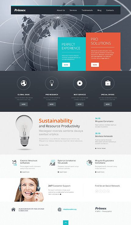 53 best Flat Design Website Templates images on Pinterest - resume web template