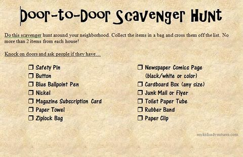 10 scavenger hunt ideas (with printable checklists) to do right now with your kids. Tips and tricks to help you create your own scavenger hunt anytime.