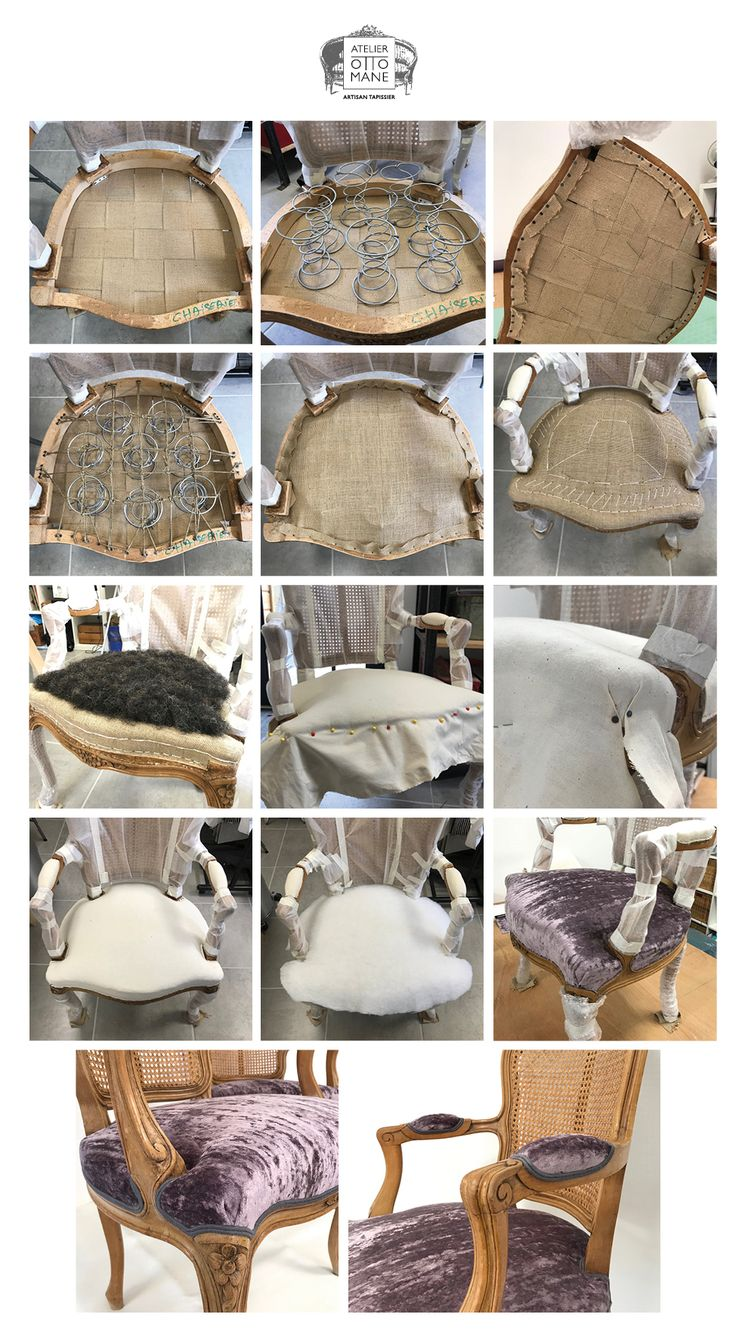 Atelier Ottomane - restauration traditionnelle : cabriolet louis XV. Upholstery France
