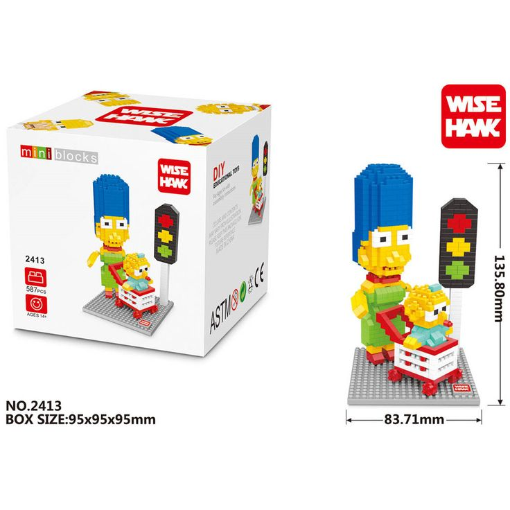 WISE HAWK Mona Simpson blocks ego legoe star wars duplo lepin toys playmobil castle starwars orbeez figure doll car brick //Price: $US $6.58 & FREE Shipping //     #toys