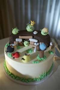 a wonderful birds cake