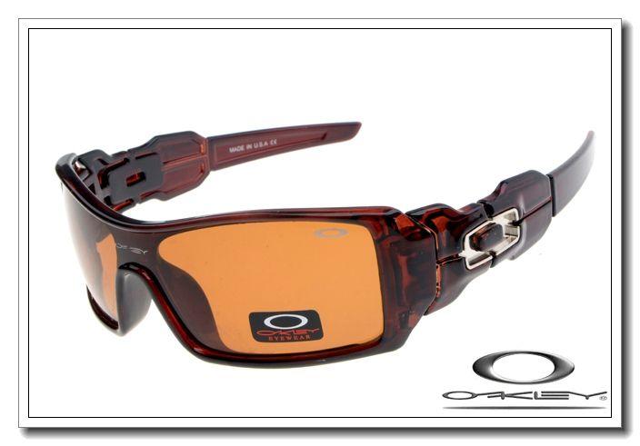 Oakley oil rig sunglasses tortoise clear / persimmon $13.00