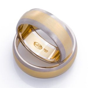 18ct Gold Two Tone Gentleman's Handmade Wedder