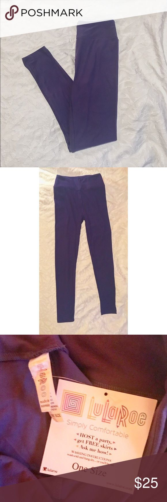 LuLaRoe Purple Leggings ✨BRAND NEW WITH TAGS ✨Material: 92% polyester and 8% spandex ✨Very comfortable! ✨Online reviews included ✨LuLaRoe guarantees that their leggings are one size fit ALL! LuLaRoe Pants Leggings