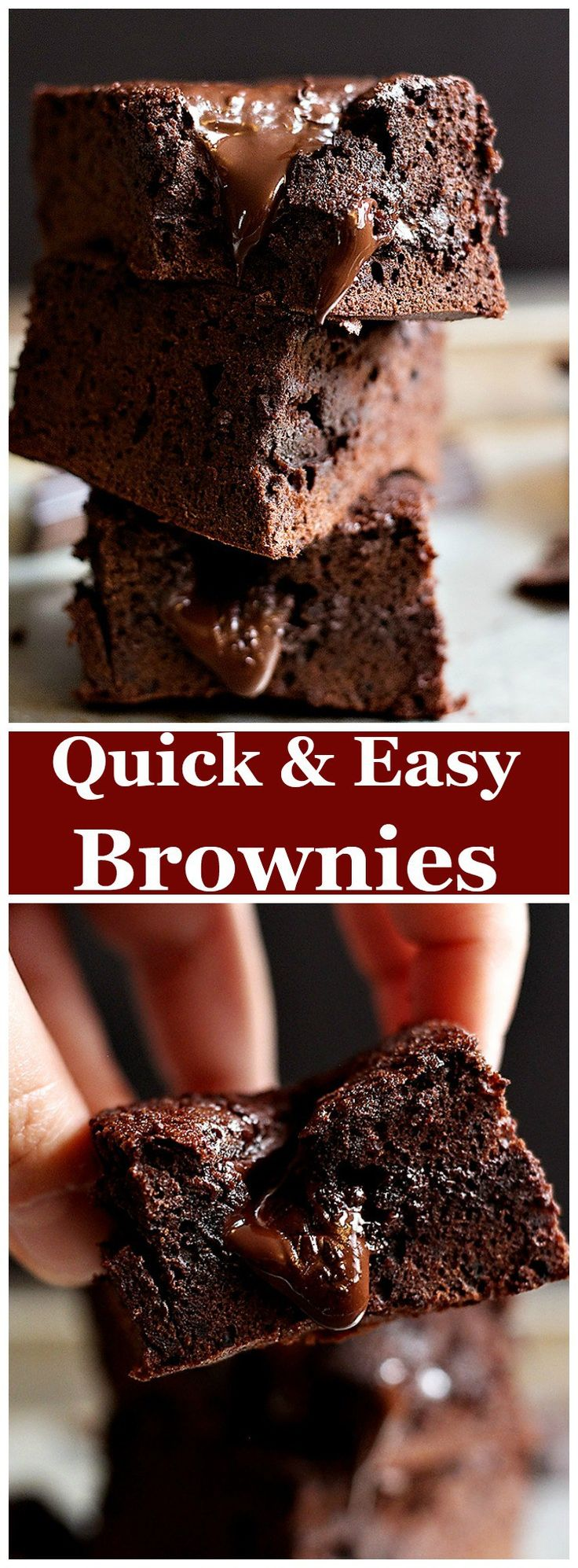 Quick and Easy Brownies Recipe • Unicorns in the Kitchen