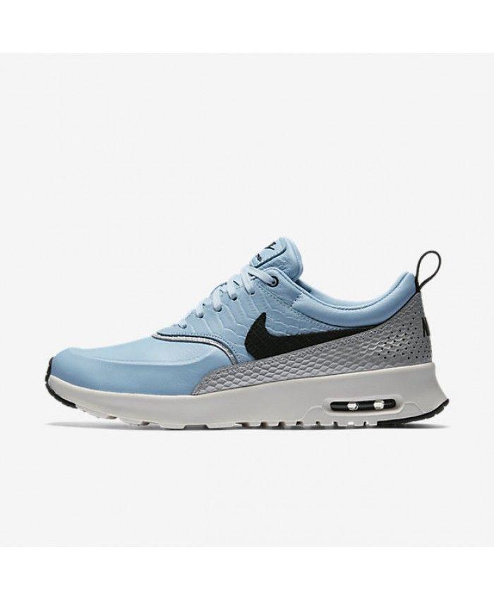 Nike Air Max Thea LX Mica Blue/Metallic Silver/Ivory/Black Womens Sale