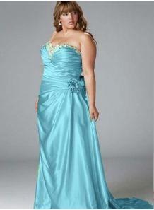 TEODORA - Evening dresses Plus size A-line Chapel train Stretch satin Sweetheart Occasion dress