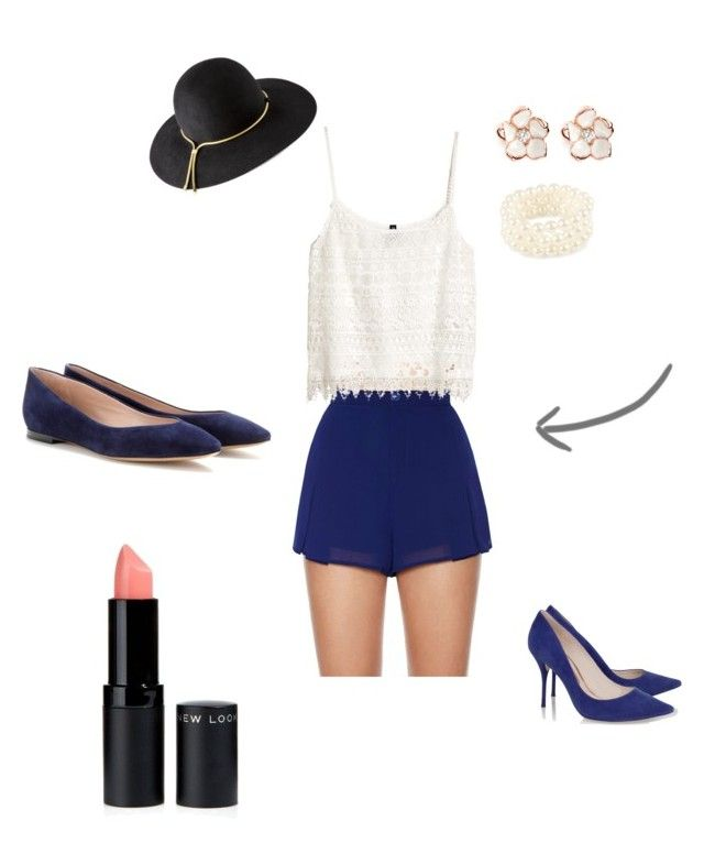 Paseo by romi-lagos-vilches on Polyvore featuring moda, H&M, Nasty Gal, Chloé, Sophia Webster, Pieces, Shaun Leane and Lanvin