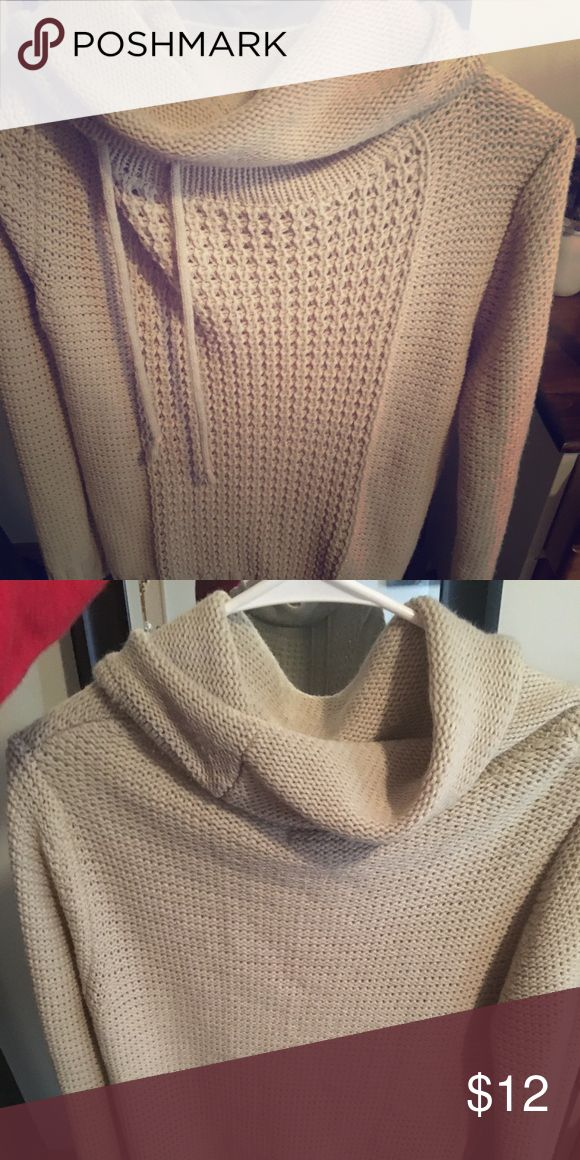 Women's cowl neck sweater Warm, knit cowl neck sweater with cute drawstrings! Sweaters Cowl & Turtlenecks