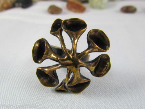 Stilvoller Ring aus Bronze Made in Finland Bronzering Finnland Bronce 70er Jahre