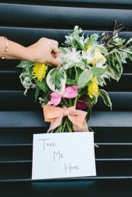WIUP + The Lonely Bouquet from Pollen Floral Design + Winners!   Style Me Pretty