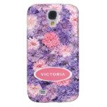 Beautiful Elegant Pink Purple Floral Watercolor Samsung Galaxy S4 Cover