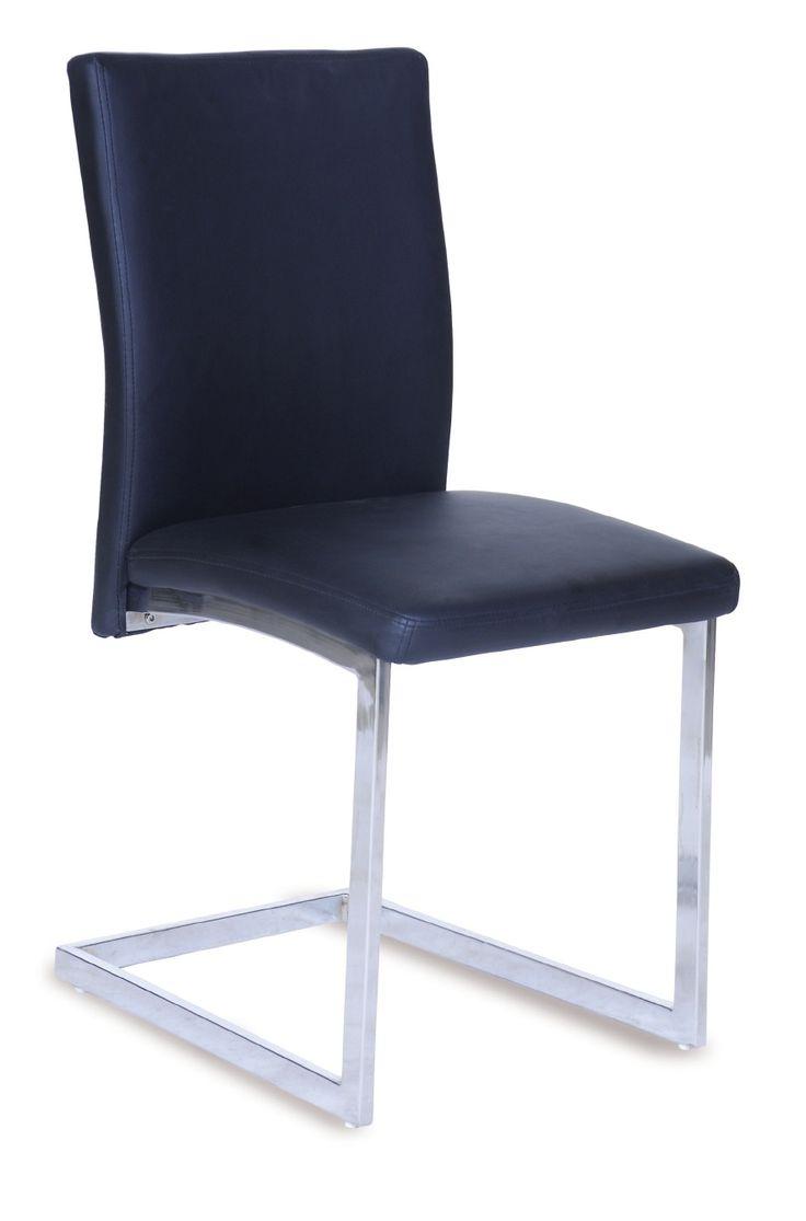 Silla Limit: Silla extructura metálica con recubrimiento cromado. Tapizado en PU lavable. Colores disponibles negro y blanco . Patas con conteras de plástico antirrayado.