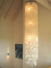 Muschellampe 200 cm Muschelleuchte Deckenlampe Deckenleuchte Shell Lamp Ceiling