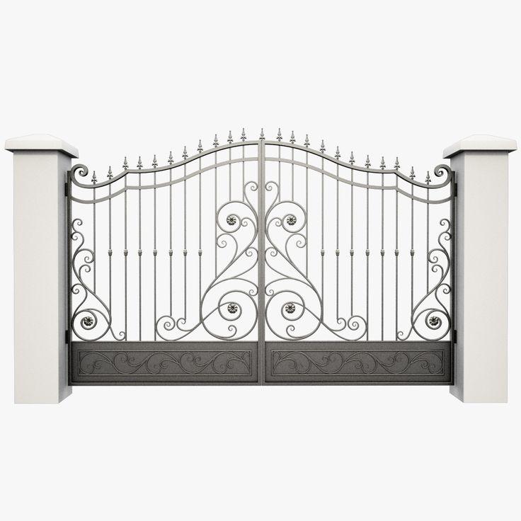 Фото фото - 3D модель кованые железные ворота кованые железные ворота по Сьогун