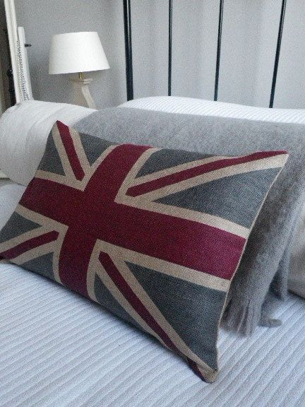 hand printed New  rustic union jack  flag cover by helkatdesign, $78.00