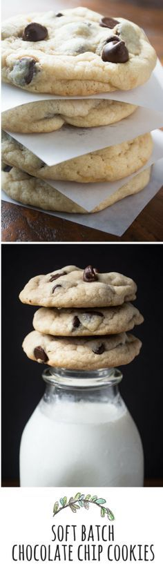 These are the perfect, soft and chewy chocolate chip cookies of your dreams!