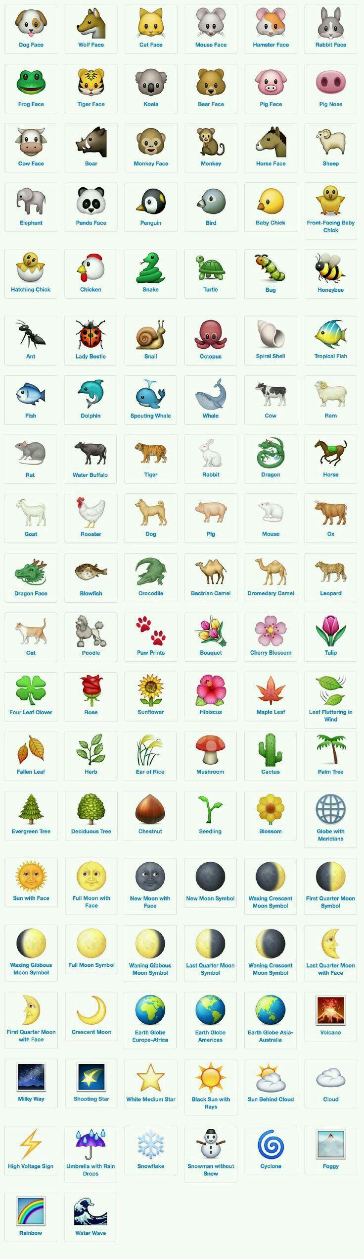 Pin by Bliss on Emoji Emoji art, Emoji chart, Emojis