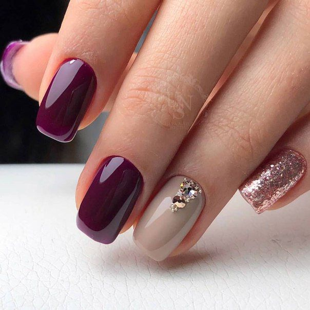 Plum and rose gold