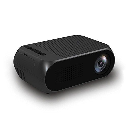 Mini Projector, Portable Projector Multimedia Home Theater With HDMI USB SD AV VGA, 1080P HD Home Theatre Projector for Home Video Cinema, TV, Laptops, Smartphones, etc - Why do increasing people buy a projector rather than a TV or PC? - Projector provides larger screen size and the screen size is adjustable while TV and PC can not. - TV screen or PC screen is harmful to eyes (especially for kids) but projector screen light is softer and more comfortable for eyes.... #hometheatreprojectors