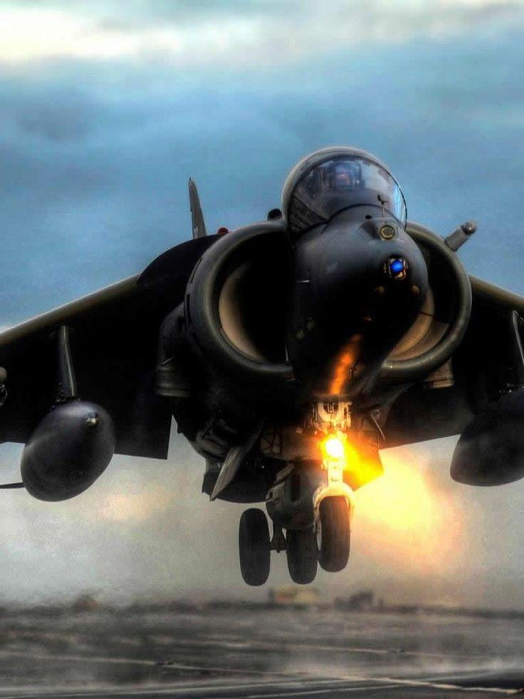 British Harrier Hover Takeoff