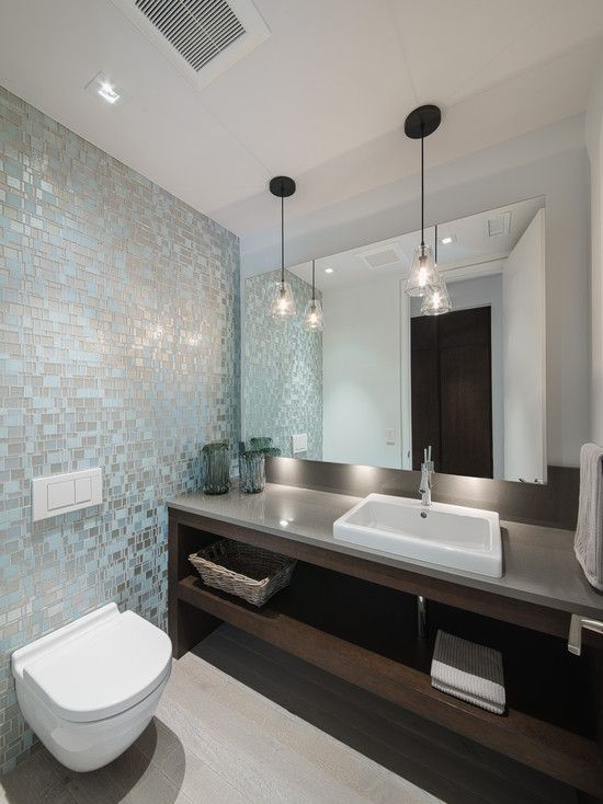 Bathroom Design, Charming Contemporary Bathroom Trends With White Modern  Floating Toilet Bowl Also Brown Modern