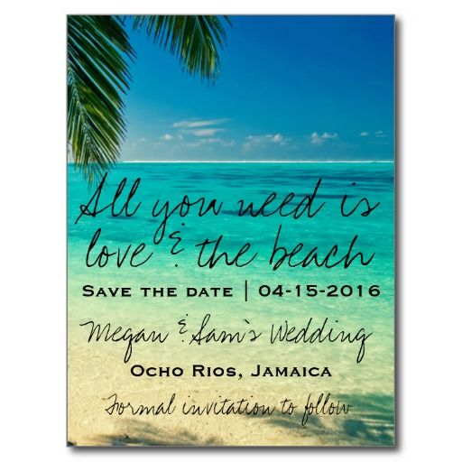 Jamaica Destination Wedding Save the Date Postcards - Sold, thanks to the couple in NC!