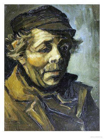 A Peasants Head (A Study for the Potato Eaters), c.1885 Posters by Vincent van Gogh at AllPosters.com 18x24