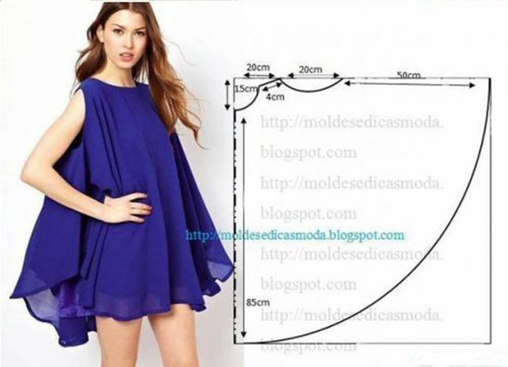 Легкое и воздушное летнее платье из шифона - сшить быстро и просто