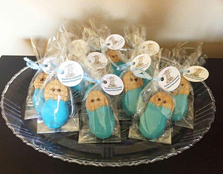 little peanut nutter butter baby shower favors elephant theme