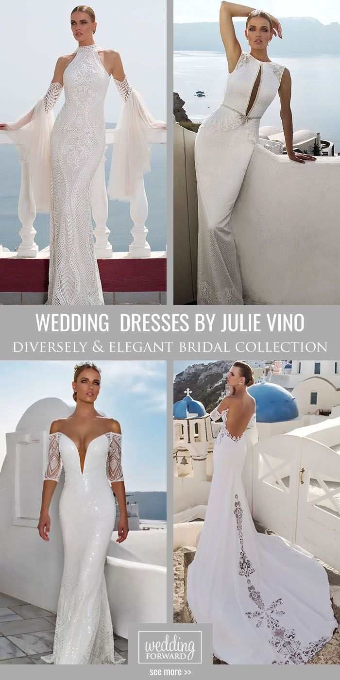 Julie Vino Santorini 2016 Bridal Collection ❤ Dresses by Julie Vino combine classic style with modern touch. See more: http://www.weddingforward.com/julie-vino-santorini-bridal-collection/ #wedding #dresses