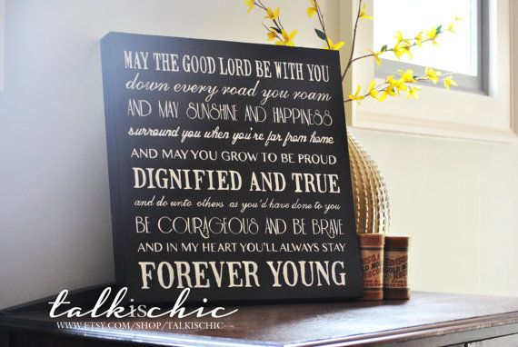 Customizable Forever Young Sign   Mother's Day Gift by talkischic, $95.00