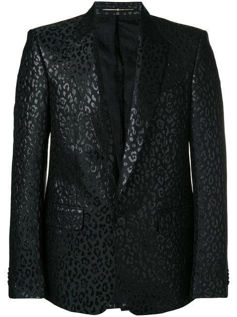 540cb964 Givenchy leopard lurex tuxedo jacket - black leopard print wedding suit -  animal print wedding tuxedo jacket