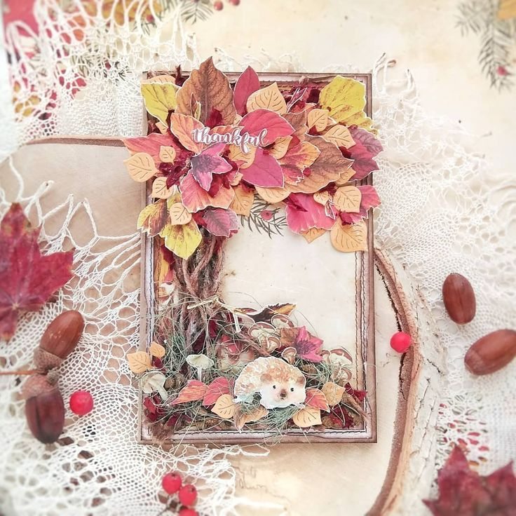 Осенняя открытка скрап