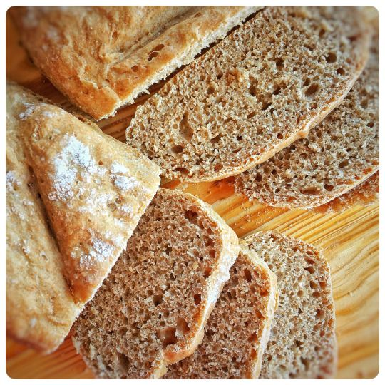 Receita Básica de Pão de Espelta Integral só com 4 ingredientes...