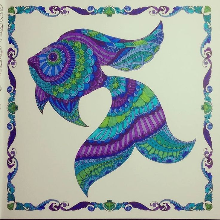 Coloring Book Pages Of Fish : 76 best lost ocean coloring book completed pages inspiration